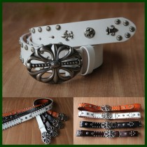 Natural Leather Smooth Buckles Belts