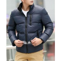Navy Blue Cotton Warm Casual Jacket