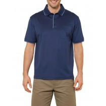 Navy Blue Sport Style Short Sleeve Polo Tshirt