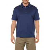 Navy Blue Sport Style Short Sleeve Polo Tshirt