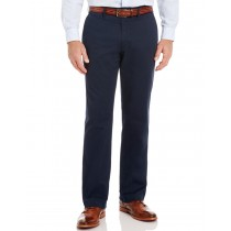 Navy Blue Stretch Twill Casual Trouser