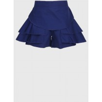 Navy Blue Stylish Regular Fit Cotton Short