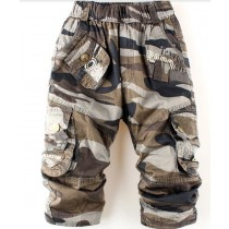 New Arrival Boys Multi-Pocket Cargo Trousers