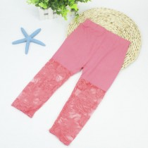 New Arrival Floral Lace Casual Girl Leggings