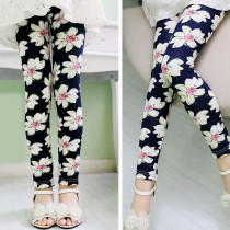 New Arrival Flower Printed Classic Girl Leggings