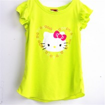 New Arrival Girl Fashion Printed Cotton Tshirt