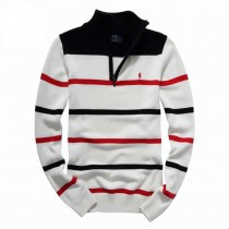 New Arrival Men Half Zipper Striped Pullovers