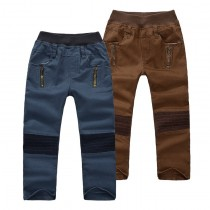 New Arrival Spliced Pattern Boys Casual Trousers