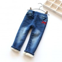 New Arrival Winter Thicken Warm Girl Jeans
