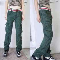 New Arrival Womens Multi Pockets Cargo Trousers