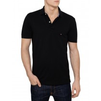 New Black Short Sleeve Polo Tshirt