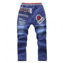 New Boy Fashion Printed Casual Trousers