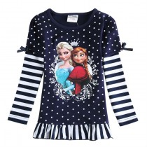 New Cartoon Print Summer Style Girl Tshirts