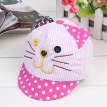 New Cotton Cat Face Design Boy And Girl Caps