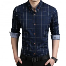 New Fashion Long Sleeve Slim Fit Casual Men Shirt