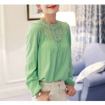 New Fashion Womens Lace Patchwork Tops