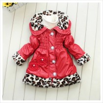 New Fashionable Girls Leather Red Jacket