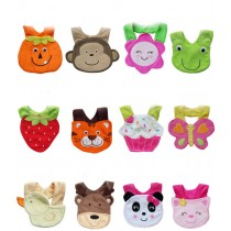 New Infant Boy Girl 3D Animal Soft Lunch Bibs