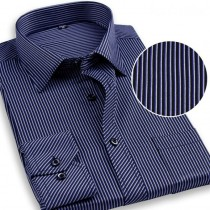 New Mens Striped Pattern Formal Shirts