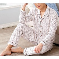 New Mens Turn Down Collar Casual Pajama Sets