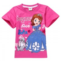 New Princess Cartoon Girl Short Sleeve Tshirts