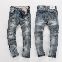 New Style Mens Straight Ripped Jeans