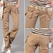 New Women Fashion Straight Fit Cargo Trousers