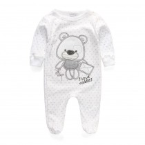 Newborn Baby Boy Cotton Long Sleeve Rompers