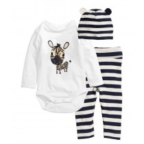 Newborn Baby Boy O-Neck Rompers Set