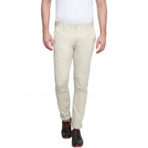 Off White Slim Fit Casual Trouser