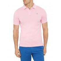 Pink Slim Fit Cotton Unique Style Polo Tshirt