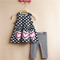 Polka Dot Design Baby Girl Clothing Suit