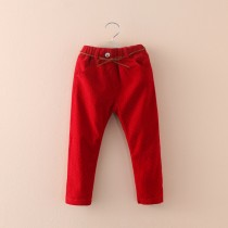 Polka Dot Winter Fleece Girl Formal Trousers