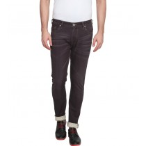 Purple Colored Slim Fit Casual Trouser