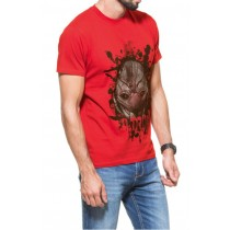 Red Attractive Graphic Printed Tshirt