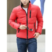 Red Cotton Warm Long Sleeves Jacket