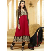Red Designer Georgette Anarkali Suit