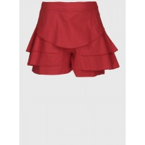 Red Stylish Regular Fit Cotton Short