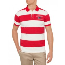 Red & White Large Striped Polo Tshirt