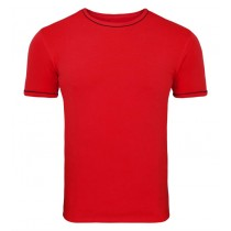 Scarlet Red Stretch Tee Half Sleeves Tshirt