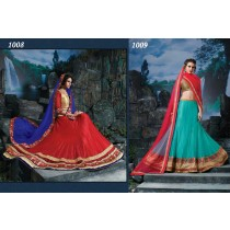 Set Of 12 Womens Stylish Colorful Lehengas2