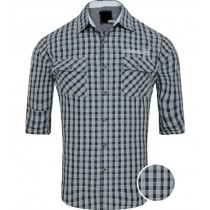 Slim Fit Grey And Black Checkered Casual Shirt