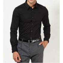 Solid Black Formal Shirt