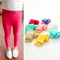 Spring Girl Fashion Candy Color Trousers