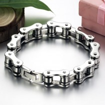 Stainless Steel Bike Chain Style Bracelet