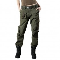 Stylish Casual Camouflage Women Cargo Trousers