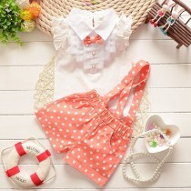 Stylish Chiffon Plaid Baby Girl Clothing Sets