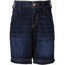 Stylish Dark Blue Cotton Denim Short