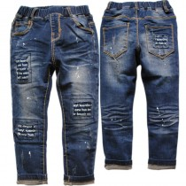 Stylish Elastic Waist Boys Jeans