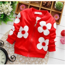 Stylish Long Sleeve Floral Baby Girl Jackets